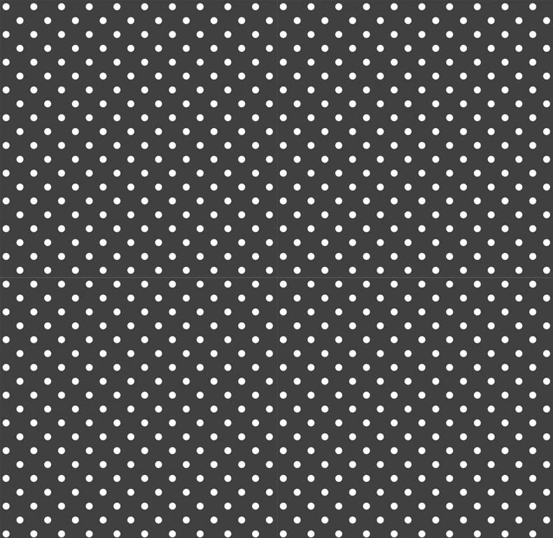 Tecido Tricoline Poá Pequeno Branco - Fundo Preto