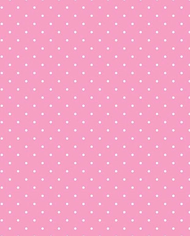 Tecido Tricoline Estampa Micro Poá Branco - Fundo Rosa Bebê