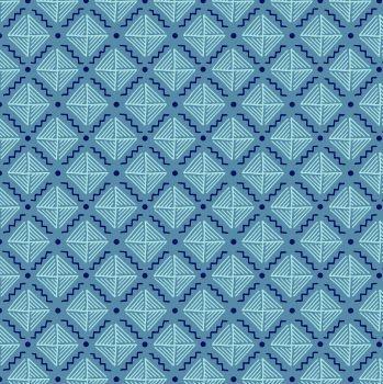 Tecido Tricoline com Estampa Listrada - Coleção Geométrico - Fundo Azul Claro - Preço de 50cm x 150cm