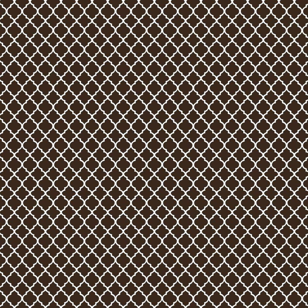 Tecido Tricoline Mini Vitral Treliça - Marrom - Preço de 50 cm x 150 cm