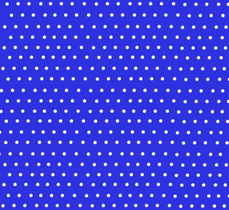 Tecido Tricoline com Poá Branco e Fundo Azul Royal