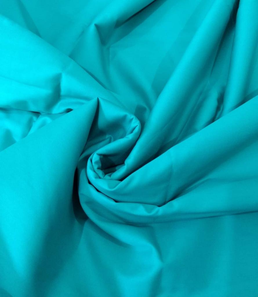 Tecido Tricoline Lisa Azul Esmeralda - Preço de  50 cm x 150 cm