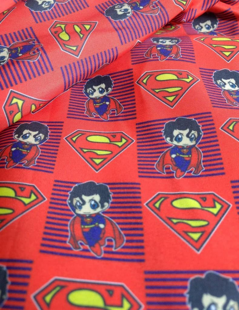 Tecido Estampa Exclusiva de Personagens - Super Homem - 100% poliéster - Preço de 80cm x 60cm