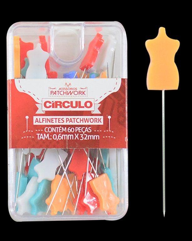 Alfinetes Coloridos Formato de Manequim - 3,2 cm de Comprimento - 0,6 mm Espessura