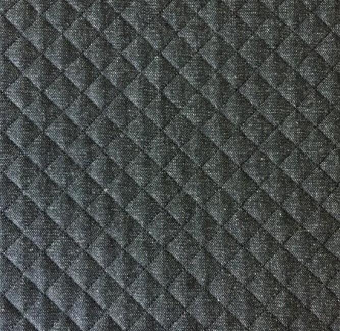 Jeans Chumbo Matelassê Preto - Preço de 45 cm x 150 cm