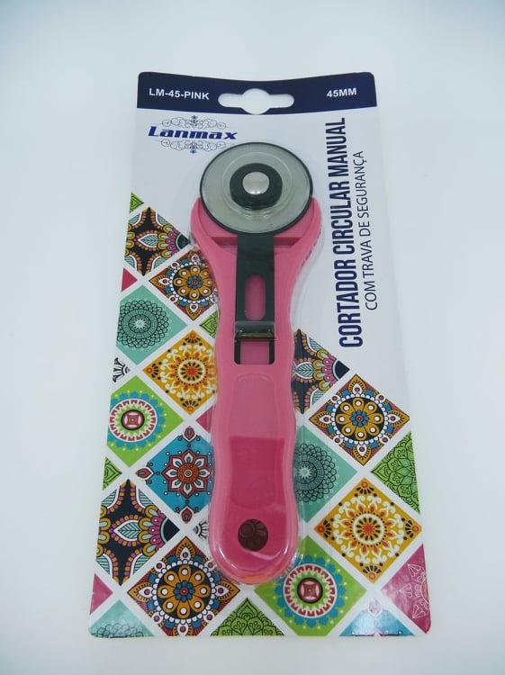 Cortador Circular para Tecido - 45 mm - Rosa