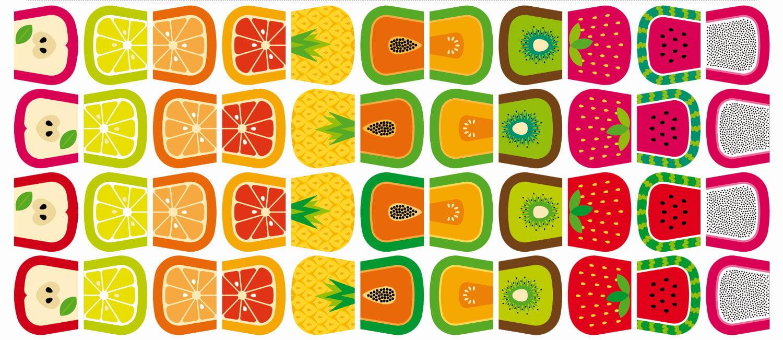 Tecido Digital - Necessaire Meia Tigela Frutinhas - Preço de 62cm x 146cm