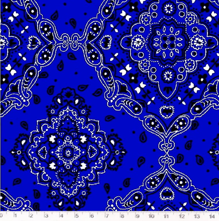 Tecido Tricoline Bandana Azul Royal