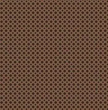 Tecido Tricoline com Estampa de Poá Café - Preço de 45 cm x 150 cm
