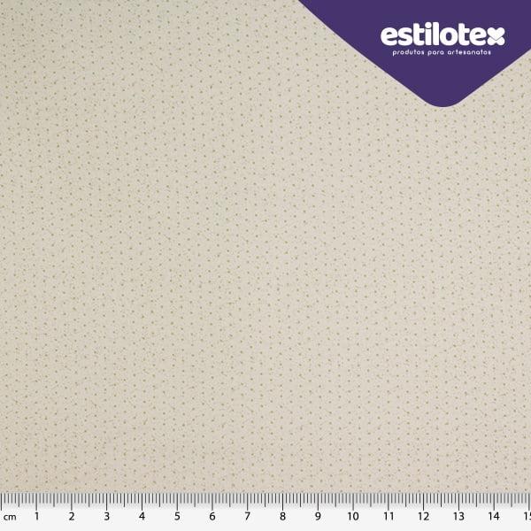 Tecido Tricoline de Poá Areia - Fundo Cinza Claro - Coleção Poá Chic - 40 cm
