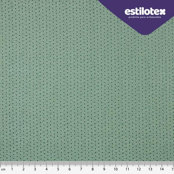 Tecido Tricoline de Poá Verde Esmeralda - Coleção Poá Chic