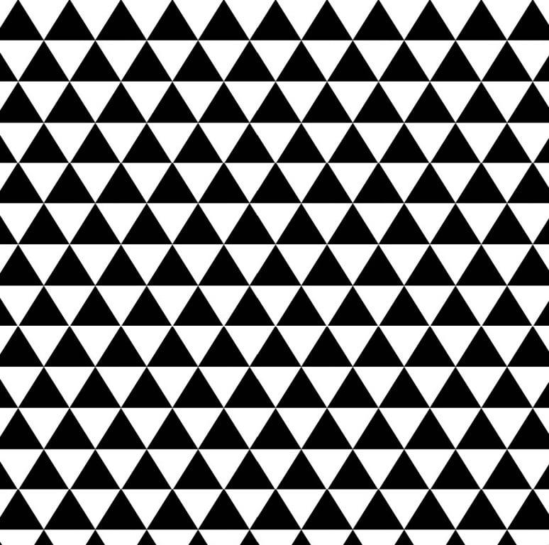 Tecido Tricoline de Triangulos - Preto e Braco - Coleção Monochrome - 40cm