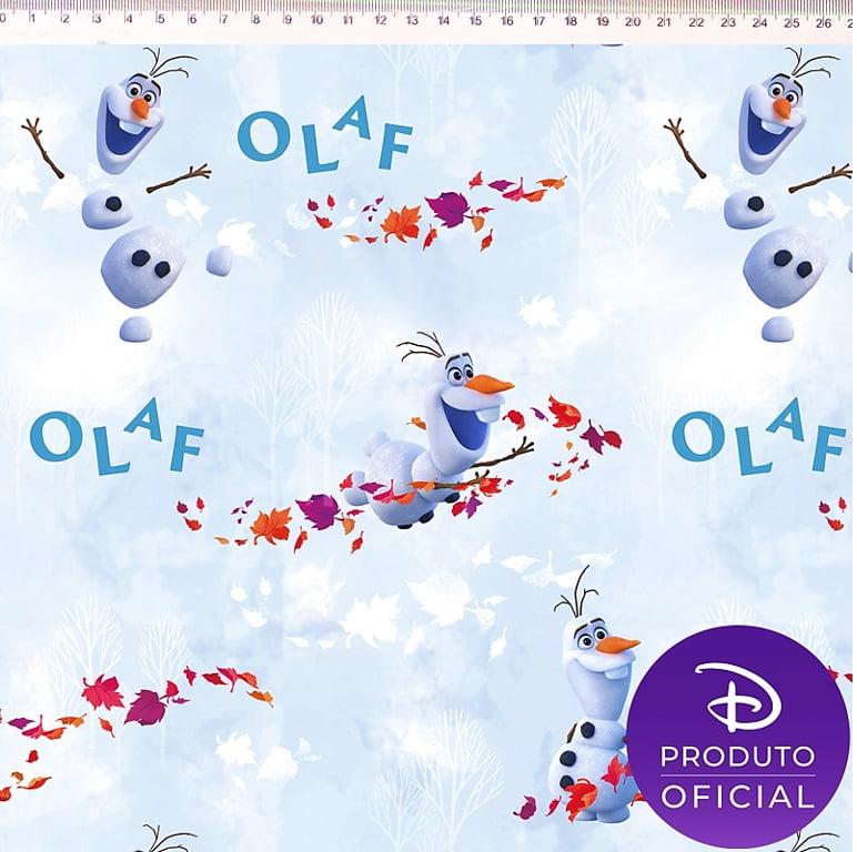 Tecido Tricoline Digital Frozen Olaf Preco De 50cm X 150cm