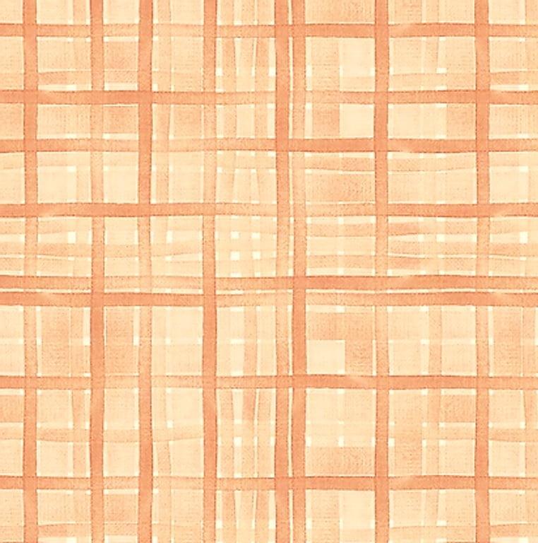 Tecido Tricoline Digital Xadrez Veneza Rosê - Preço de 50 cm x 150 cm
