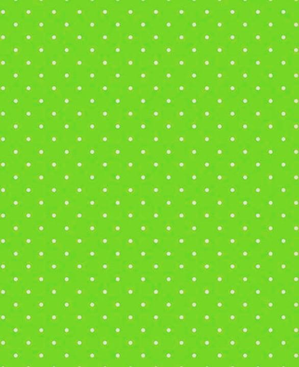 Tecido Tricoline  Estampa Micro Poá Branco Fundo Verde Pistache