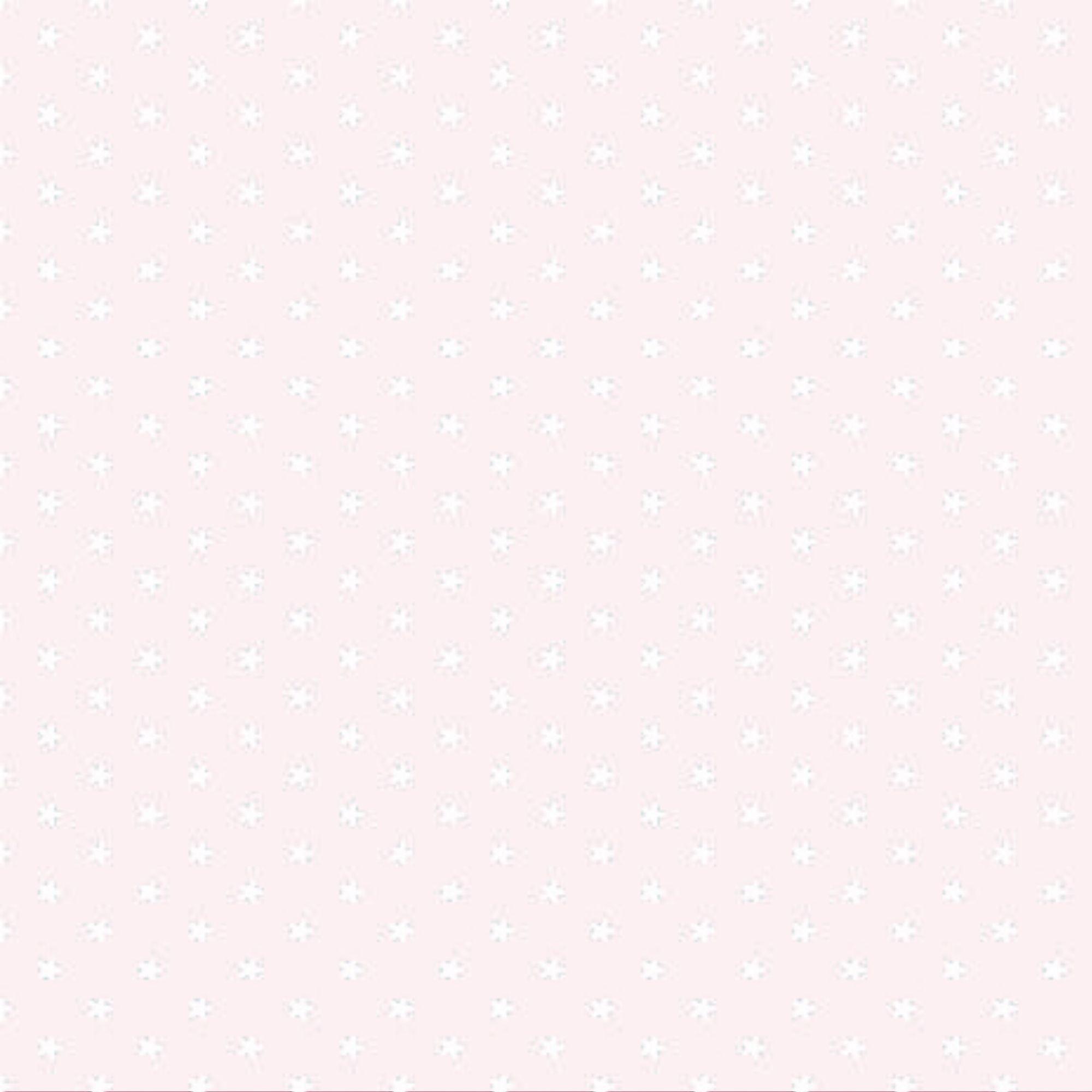 Tecido Tricoline  Estampa Mini Estrela Branca - Fundo Off White - Preço de 50 cm X 150 cm