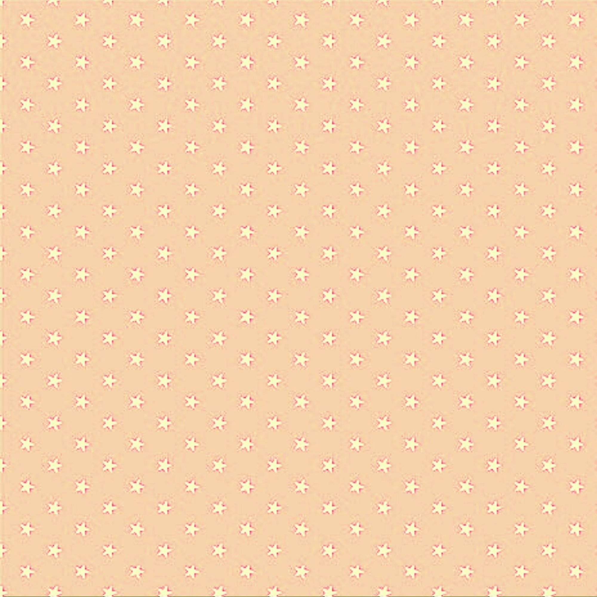Tecido Tricoline  Estampa Mini Estrela Branca - Fundo Rosa Pele