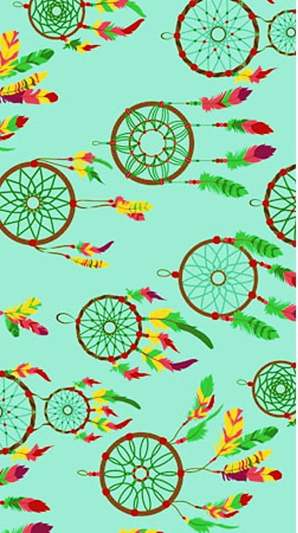 Tecido Tricoline Filtro dos Sonhos - Fundo Verde