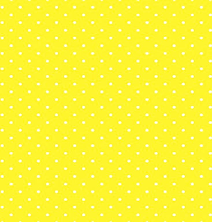 Tecido Tricoline Micro Poá Branco - Fundo Amarelo Arte