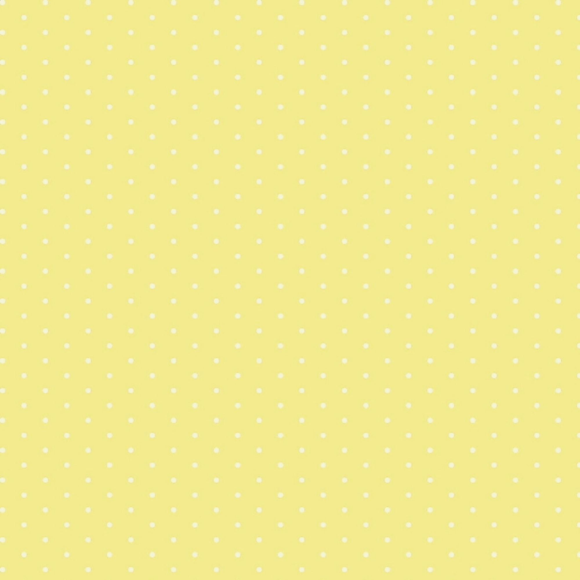 Tecido Tricoline Micro Poá Branco - Fundo Amarelo Claro - Preço de 50 cm X 150 cm