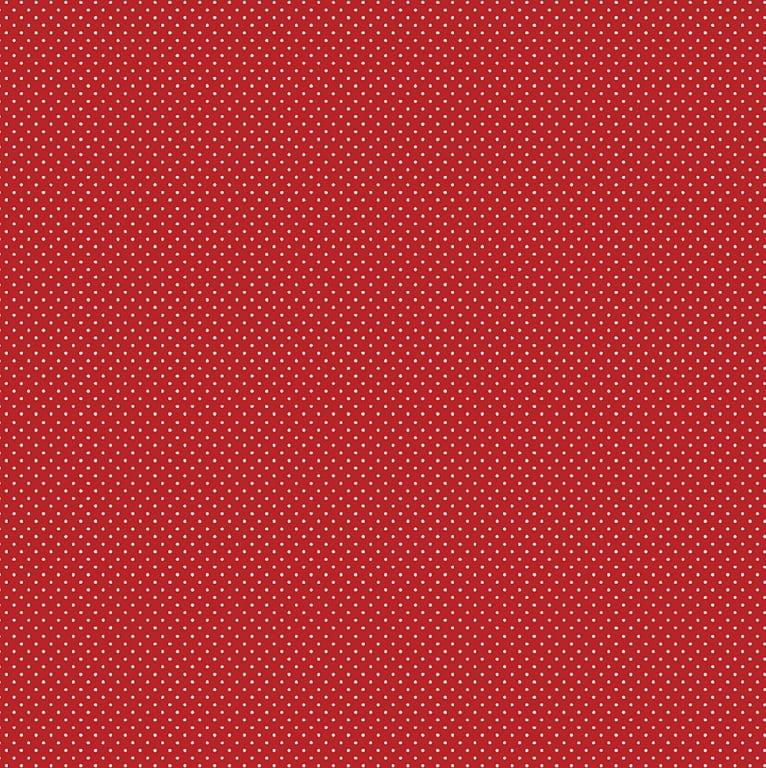 Tecido Tricoline Micro Poá Creme - Fundo Vermelho