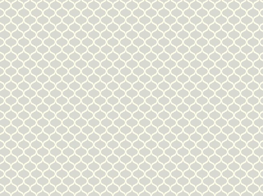 Tecido Tricoline Mini Vitral - Fundo Cinza - Preço de 50 cm x 150 cm