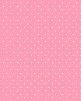 Tecido Tricoline Poá Branco Pequeno - Fundo Rosa Bebê - Preço de 50 cm X 150 cm