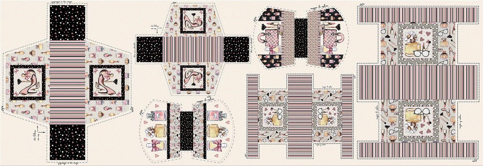 Tecido Digital Painel Necessaire - Coleção Perfume - Preço de 45 cm x 150 cm