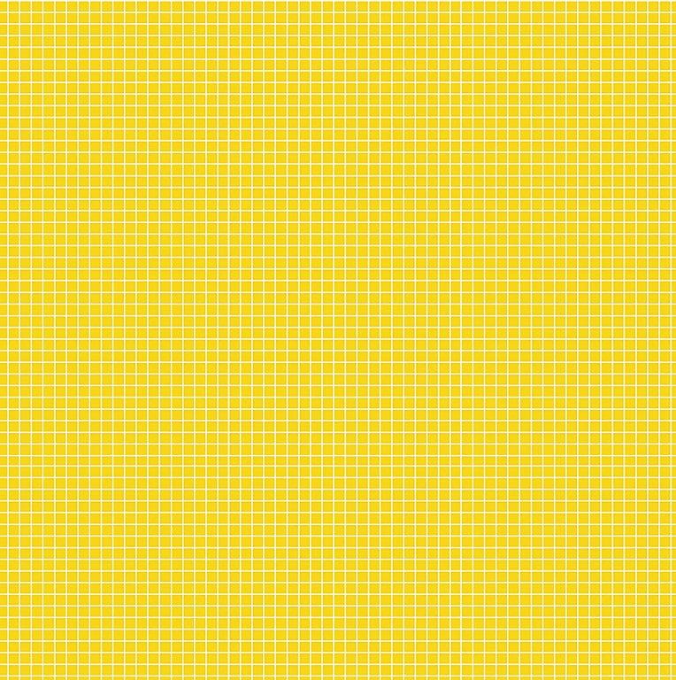 Tecido Tricoline Quadradinhos - Fundo Amarelo - Preço de 50 cm x 150 cm