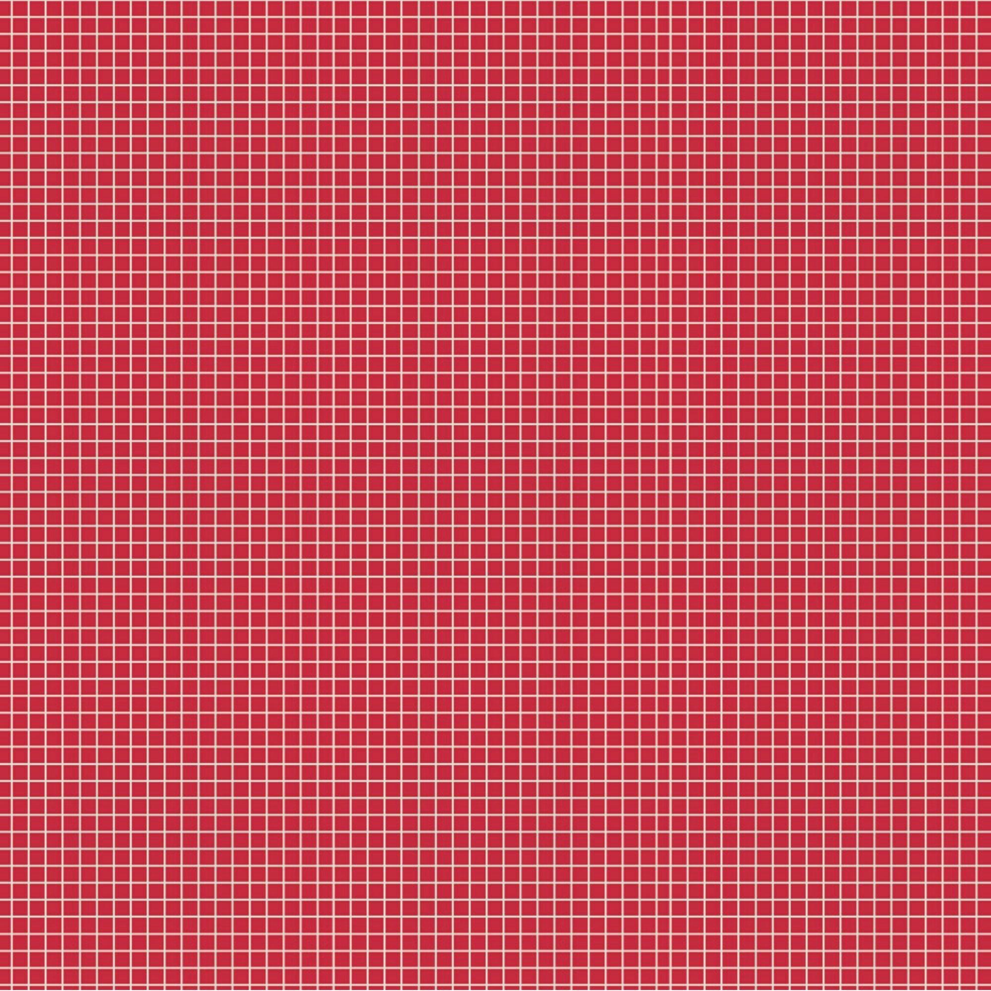 Tecido Tricoline Quadradinhos - Fundo Vermelho - Preço de 50 cm x 150 cm