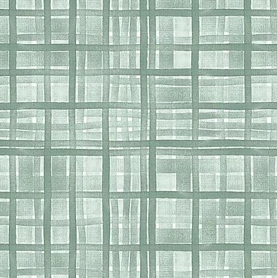 Tecido Tricoline Digital Xadrez Verde Menta - Coleção Veneza - Preço de 50 cm x 150 cm