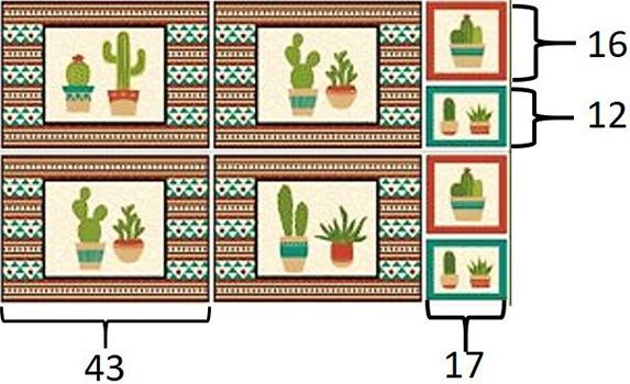 Tecido Tricoline Jogo Americano e Pegador de Panela - Coleção Cactus - Fundo Bege - 60 cm X 150 cm