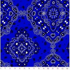 Retalho Tricoline Bandana Azul Royal