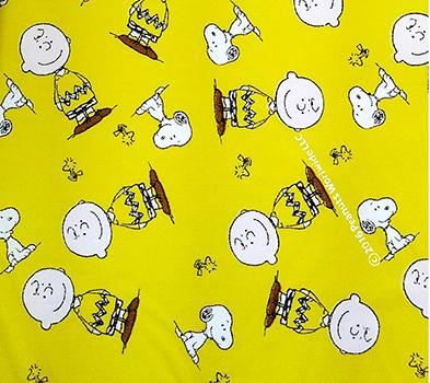 Tricoline Snoopy e Charlie Brown - Fundo Amarelo