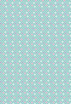 Tecido Tricoline com Estampa de Escamas de Sereias - Fundo Azul Claro - Preço de 50 cm X 146 cm