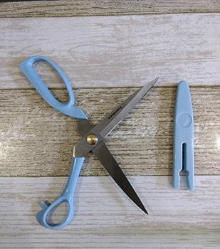 Tesoura Azul com Capa Protetora - 23 cm