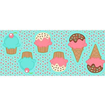 Tecido Tricoline - Pillows - Cupcake - Preço de 60 cm x 150 cm