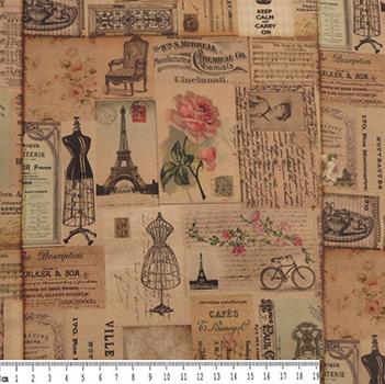 Tecido Digital - Paris Antiga - 40 cm