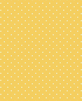 Tecido Tricoline Estampa Micro Poá Branco Fundo Amarelo - Preço de 50 cm X 146 cm