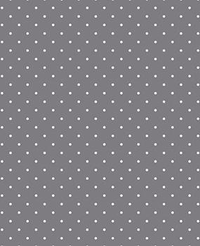 Tecido Tricoline  Estampa Micro Poá Branco Fundo Cinza - Preço de 50 cm X 146 cm