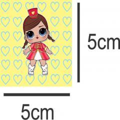 Tecido Estampa Exclusiva de Personagens - Bonecas Lol - 100% poliéster - Preço de 80cm x 60cm