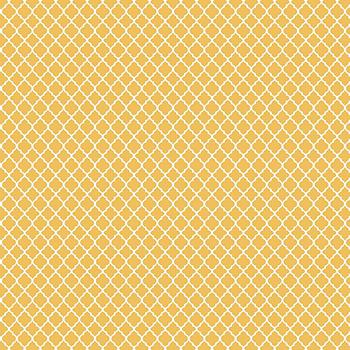 Tecido Tricoline Mini Vitral Treliça - Fundo Amarelo - Preço de 50 cm x 150 cm