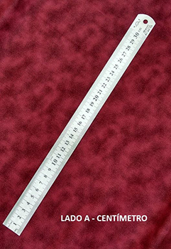 Régua em Aço Inox - 30 cm