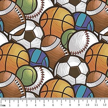 Tecido Digital Multi Bolas Esportes - Preço de 50 cm x 150 cm