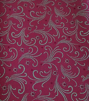 Tecido Tricoline Barrados de Natal - Fundo Vermelho - Preço de 50 cm x 150 cm