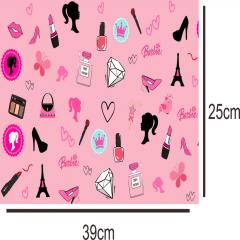 Tecido Estampa Exclusiva de Personagens - Boneca Barbie - 100% poliéster - Preço de 80cm x 60cm