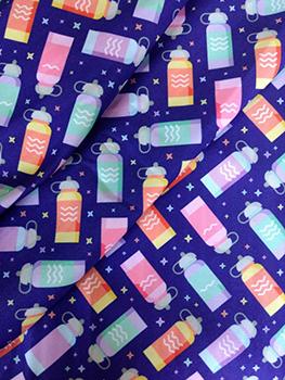 Tecido Estampa Exclusiva de Squeeze - 100% poliéster - Preço de 80cm x 60cm
