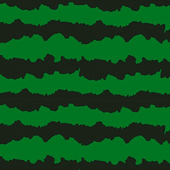 Tecido Tricoline Casca de Melancia - Fundo Verde - Preço de 50 cm X 150 cm