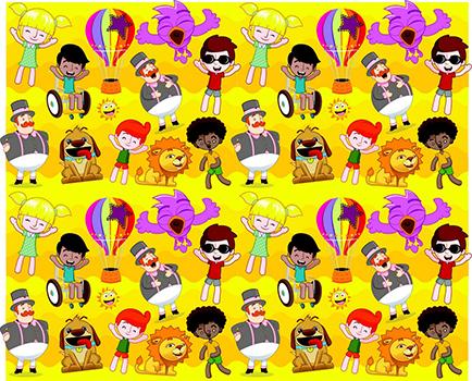 Tecido Estampa Exclusiva de Personagens - Mundo Bita - 100% poliéster - Preço de 80cm x 60cm