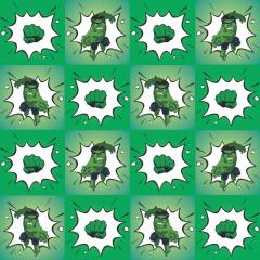 Tecido Estampa Exclusiva de Personagens - Hulk - 100% poliéster - Preço de 80cm x 60cm